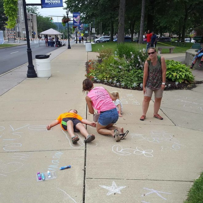 chalk in kidzone
